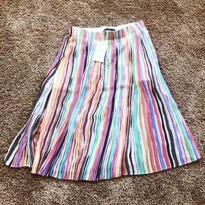 Zara Multi-colored mid length skirt